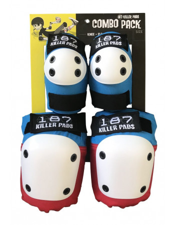 Комплект защиты 187 Killer Pads Combo Pack Red/White/Blue L/XL