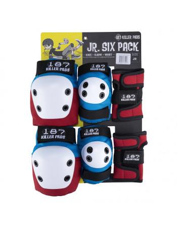 Комплект защиты 187 Killer Pads Junior Six Pack Red/White/Blue