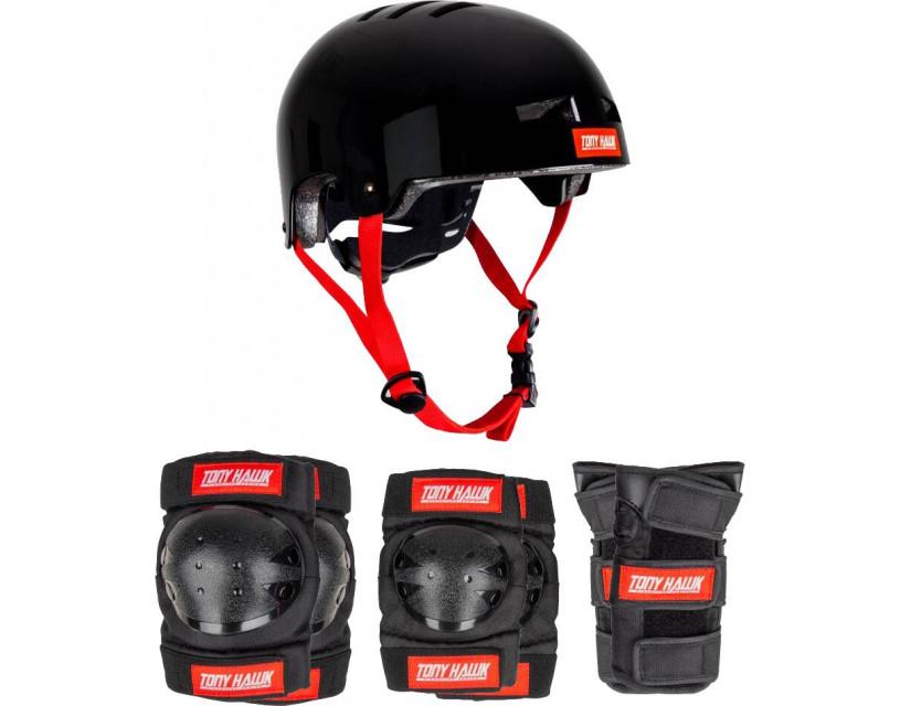 Комплект защиты Tony Hawk Protective Set Black Red L-XL (9+)