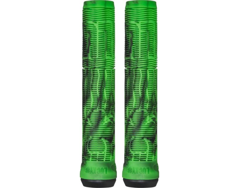 Грипсы Lucky Vice V2 Black/Green Swirl