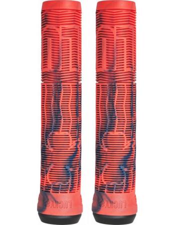 Грипсы Lucky Vice V2 Red/Blue Swirl