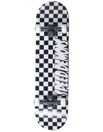"Скейтборд Speed Demons Checkers Black 8"""