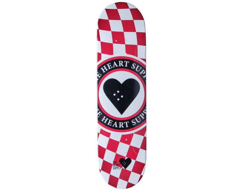 """Дека Heart Supply Insignia Check Red 8.25"""""""