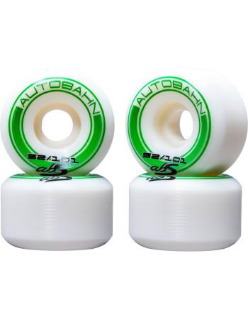 Комплект колес Autobahn GT1 Wide Body White/Green 52 mm