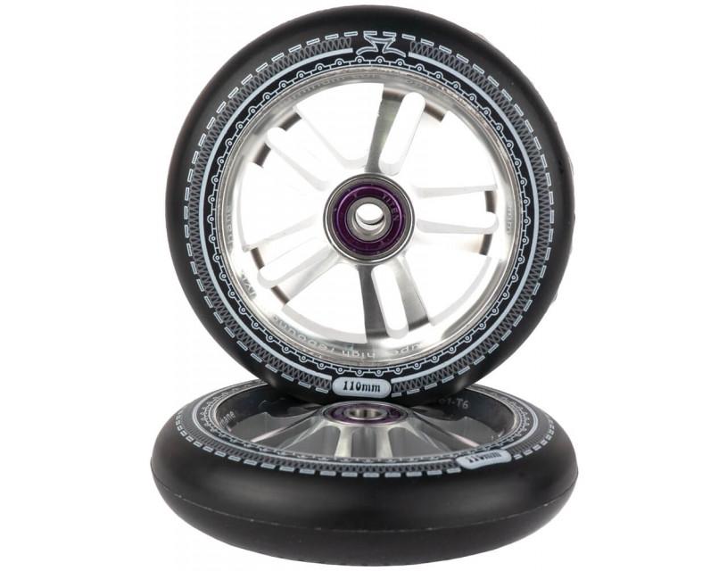 Комплект колес AO Mandala 110 mm Black/Silver