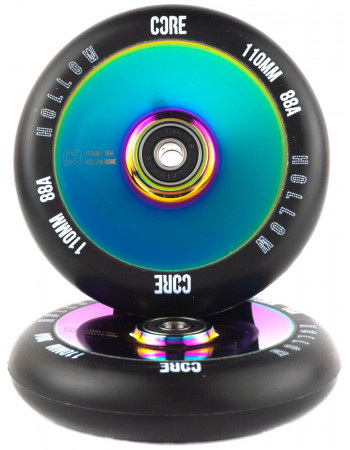 Комплект колес Core Hollow V2 110 Black/Neochrome