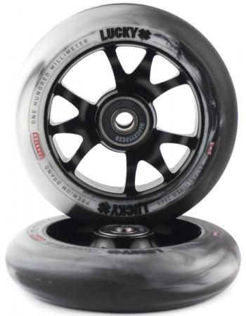 Комплект колес Lucky Toaster 100mm Black/White Swirl