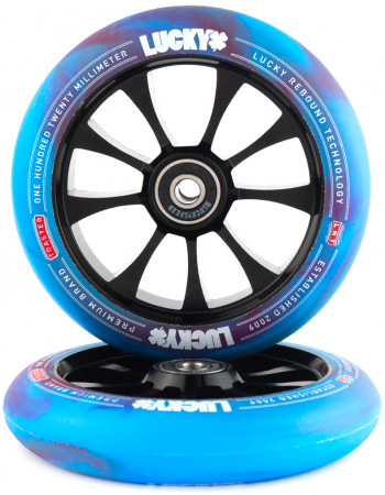 Комплект колес Lucky Toaster 120mm Red/Blue Swirl