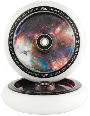 Комплект колес Striker Lighty Full Core V3 White/Galaxy Mix 110 mm