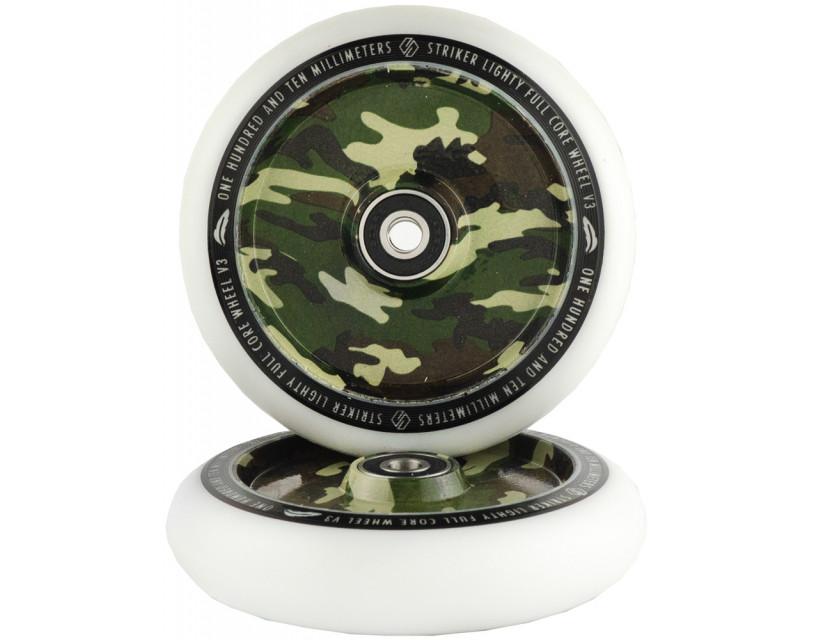 Комплект колес Striker Lighty Full Core V3 White/Camouflage 110 mm