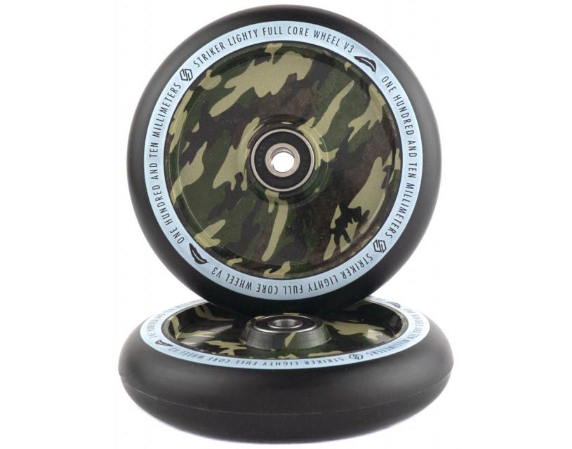 Комплект колес Striker Lighty Full Core V3 Black/Camouflage 110 mm