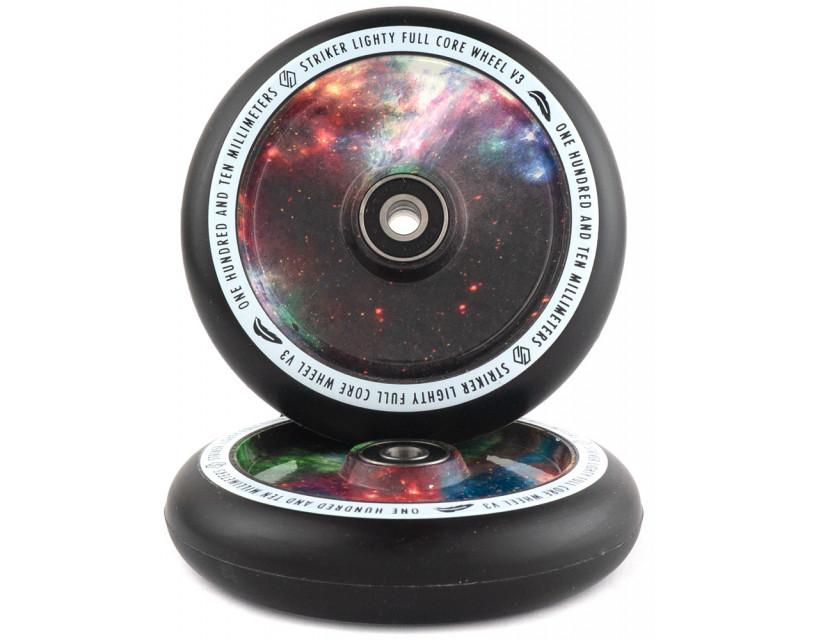 Комплект колес Striker Lighty Full Core V3 Black/Galaxy Mix 110 mm